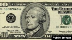Alexander Hamilton's picture appears today on the ten dollar bill.