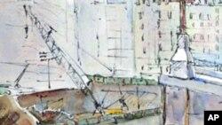 阿姬.肯尼一幅描述救援人员工作场面的绘画