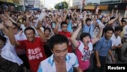 啟東市民眾抗議日資建廠排污