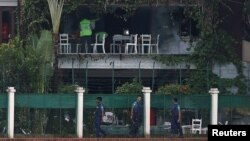 2016年7月3日孟加拉国达卡被武装分子袭击的餐厅。