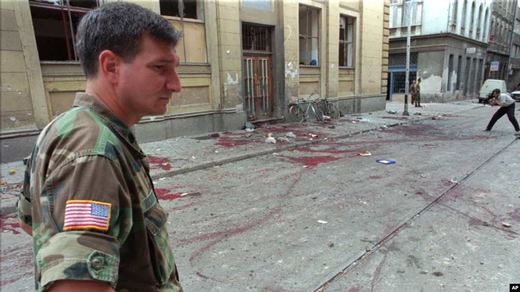 FILE - Lt. Col. Charles Vuckovic Defense Attache of the U.S. embassy in Sarajevo