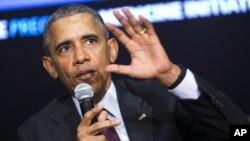 Tổng thống Obama phát biểu trong một cuộc thảo luận ở Tòa Bạch Ốc, ngày 25/2/2016.