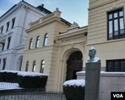 挪威诺贝尔研究所(美国之音王南拍摄)