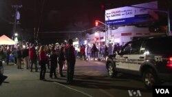 보스턴 마라톤 폭탄 테러 두번째 용의자가 체포된 후 환호하는 보스턴 워터타운 주민들.