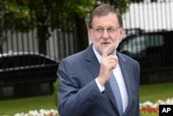 FILE - Spanish Prime Minister Mariano Rajoy.