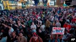 紐約市民抗議判決帶有種族歧視