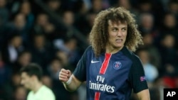 David Luiz au Parc des Princes à Paris, 6 avril 2016. (AP Photo/Thibault Camus)