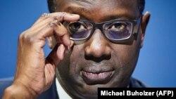 Le patron de Credit Suisse, Tidjane Thiam, a annoncé sa démission le 7 février 2020. (Michael Buholzer / AFP)