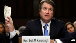 Le candidat de la Cour suprême Brett Kavanaugh lors de son audition devant la commission judiciaire du Sénat à Capitol Hill, Washington, 5 septembre 2018.