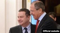 Ministri inostranih poslova Srbije i Rusije, Ivica Dačić i Sergej Lavrov, tokom susreta u Moskvi (mfa.gov.rs)