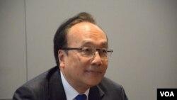 公民黨立法會議員梁家傑(VOA 湯惠芸攝)