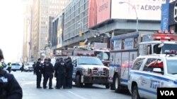 На месте теракта в Нью-Йорке