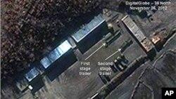 북한 평안북도 철산군 동창리 기지 로켓 조립동 주변의 지난 26일 위성사진 (자료사진)
