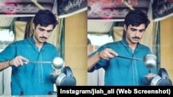 Arshad Khan, vendeur de thé pakistanais devenu célèbre dans le monde après qu'un photographe ait posté une photo de lui en train de faire du thé au Pakistan.