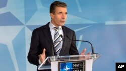 Sekjen NATO Anders Fogh Rasmussen mengecam langkah Rusia menganeksasi Krimea dari Ukraina (foto: dok).