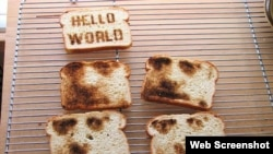 This machine can put your image on your morning toast.