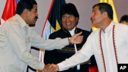 En la imagen los tres grandes ausentes en los actos de Asunción. De izquierda a derecha, el presidente venezolano Nicolás Maduro, el presidente boliviano Evo Morales y el presidente de Ecuador Rafael Correa.