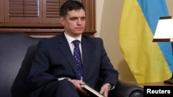 FILE - Ukrainian Deputy Foreign Minister Vadym Prystaiko is seen in Ottawa, Canada, in a March 17, 2014, photo. Prystaiko was Ukraine's ambassador to Canada at the time.