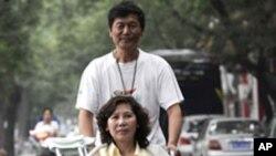 中國殘疾人律師倪玉蘭與丈夫董繼勤(資料圖片)
