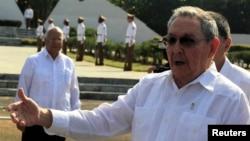 22일 쿠바 하바나에서 라울 카스트로 국가평의회 의장.(자료사진)