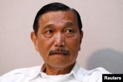 Menko Kemaritiman dan Investasi Luhut Pandjaitan mendapat sentimen negatif dari publik terbesar, 86 persen. (Foto: Reuters)