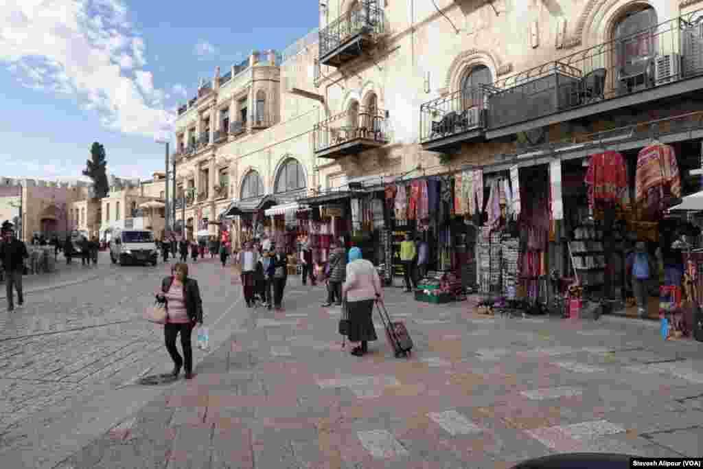 نمایی از بخش قدیمی شهر اورشلیم