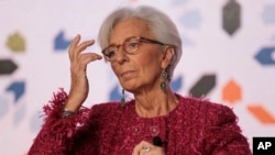 Christine Lagarde, managing director of the International Monetary Fund, attends the opening session of the Opportunities for All economic conference in Marrakech, Morocco, Jan. 30, 2018.