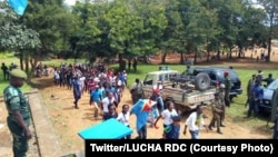 Manifestations à Beni, Nord-Kivu, RDC, 21 mai 2020. (Twitter/LUCHA RDC)