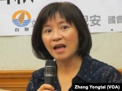 台湾在野党台联党立委周倪安 (美国之音张永泰拍摄)