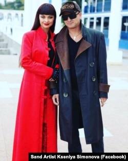 Ксенія Симонова з чоловіком