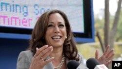 La sénatrice Kamala Harris, l'une des candidates democrats à la présidentielle américaine de 2020, le mardi 7 juin 2016.