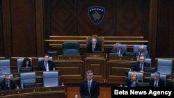 Hašim Tači u Skupštini Kosova govori o dijalogu sa Srbijom