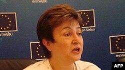 Ủy viên đặc trách cứu trợ và đối phó với khủng hoảng của EU Kristalina Georgieva