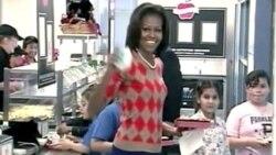美国第一夫人推动健康营养午餐