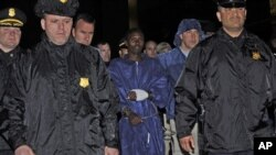 Abdiwali Abdiqadir Muse, condenado a 34 anos de prisão nos EUA por pirataria na Somália, fotografado em Abril de 2009, em Nova Iorque.