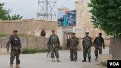 Markas besar Angkatan Darat Afghanistan di provinsi Balkh, Afghanistan utara.