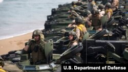 Latihan militer Marinir AS (foto: ilustrasi).