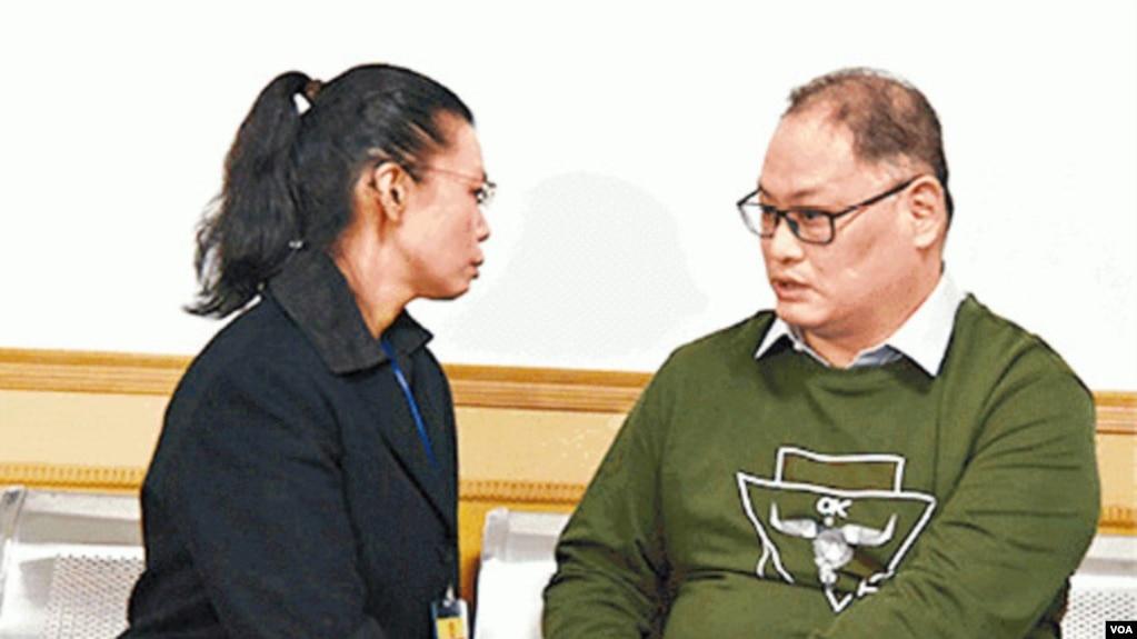 台灣活動人士李明哲與妻子李淨瑜會面