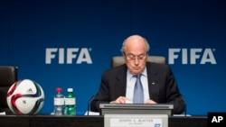 Joseph Blatter, le président déchu de la Fifa, à Zurich, Suisse, 20 mars 2015.