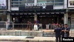 Bar Movida yang menghadapi serangan granat di Puchong, pinggiran Kuala Lumpur, Maret 2016.