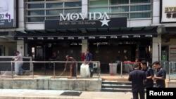 ບາຣ໌ Movida ຫຼັງຈາກທີ່ເກີດເຫດລະເບີດ ທີ່ Puchong, ຂ້າງນອກ Kuala Lumpur, Malaysia, 28, ມິຖຸນາ 2016.