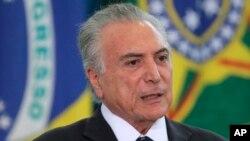 El presidente de Estados Unidos mantuvo una conversación telefónica con su homologo brasileño Michel Temer.