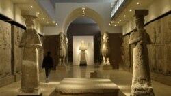 مجسمه های بازمانده از تمدن آسور در موزه بغداد