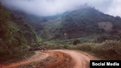 Một con đường tại bản Phá Lõm, xã Tam Hợp, tỉnh Nghệ An. Facebook Hoang Van Anh.