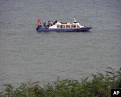 中國漁船駛近金門島