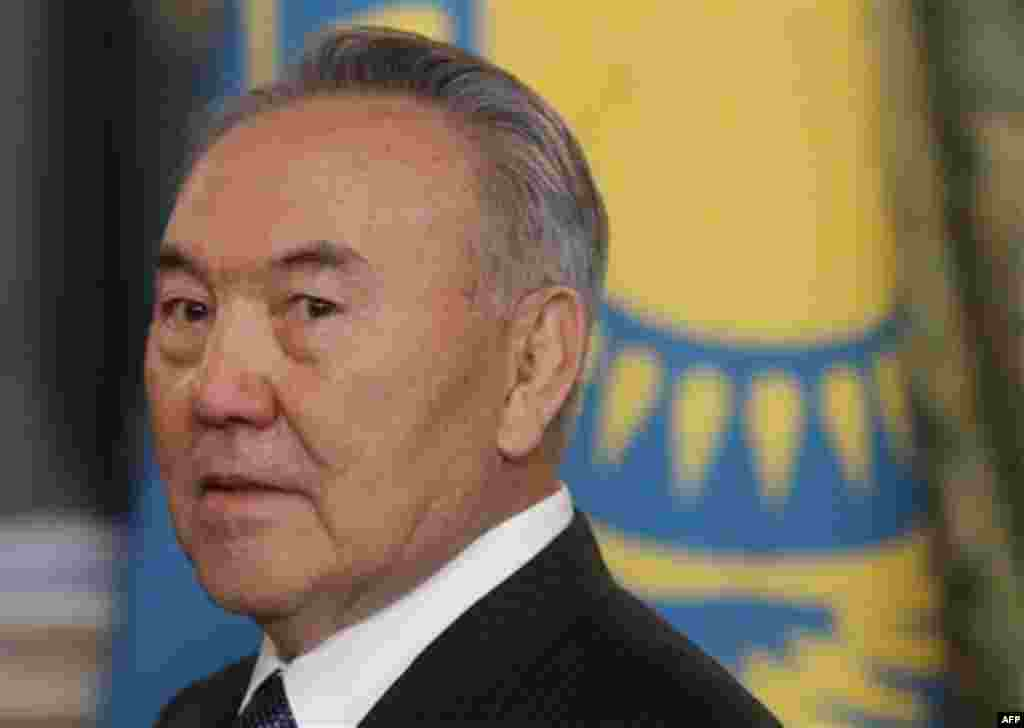 Kazakhstan's President Nursultan Nazarbayev takes part in the meeting of heads of states of the Supreme Eurasian Economic Council, in the Moscow Kremlin, Moscow, Russia, Monday, Dec. 19, 2011. The meeting is a part of a summit of the Eurasian Economic Cou