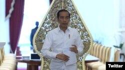 Presiden Joko Widodo di Istana Merdeka, Jakarta. (Foto: twitter/@jokowi)