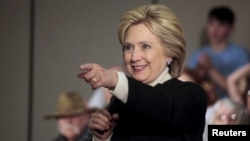 Bakal Capres Partai Demokrat Hillary Clinton saat memberikan pidato dalam kampanye di Toledo, Iowa (foto: dok).