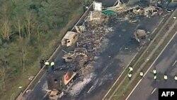 Lančani sudar na autoputu M5 na jugozapadu Engleske