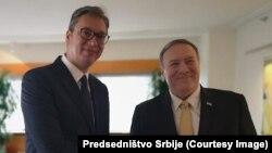 Majk Pompeo, državni sekretar SAD-a i Aleksandar Vučić, predsednik Srbije (Foto: Predsedništvo Srbije)